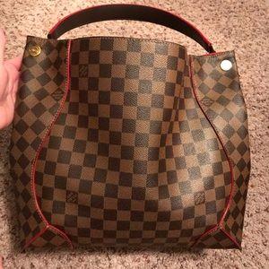 Louis Vuitton Damier Caissa Hobo Shoulder Bag
